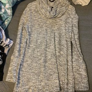 Longer cowl neck sweater